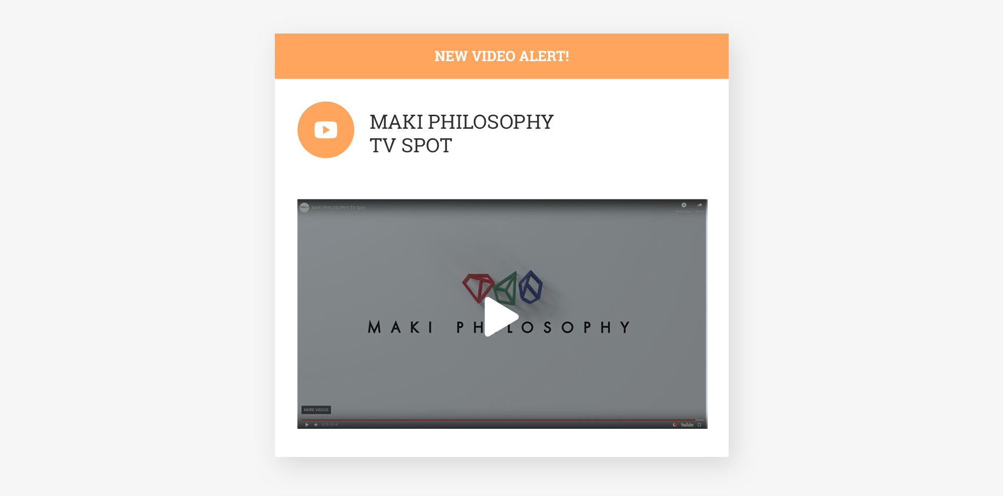 Η Think Plus υπογράφει το πρώτο τηλεοπτικό σποτ της  MAKI PHILOSOPHY