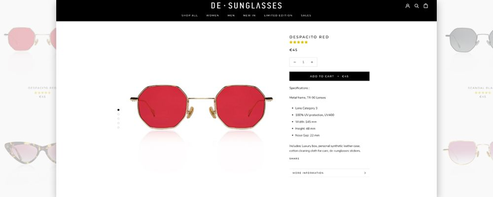 δημιουργία eshop de-sunglasses