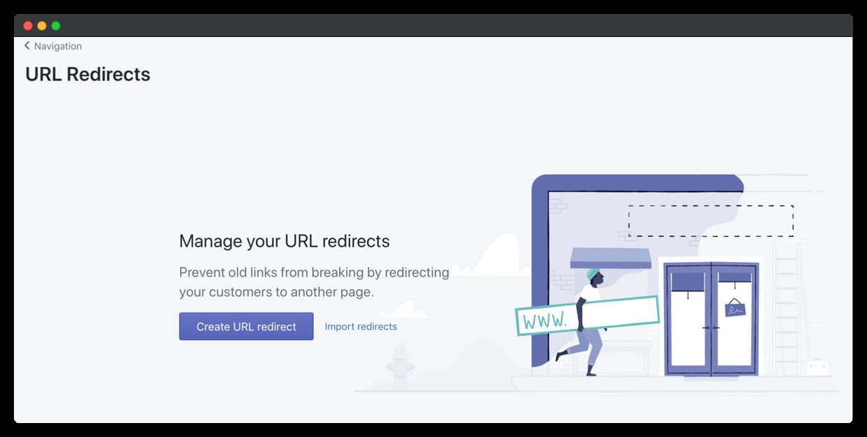 redirect shopify