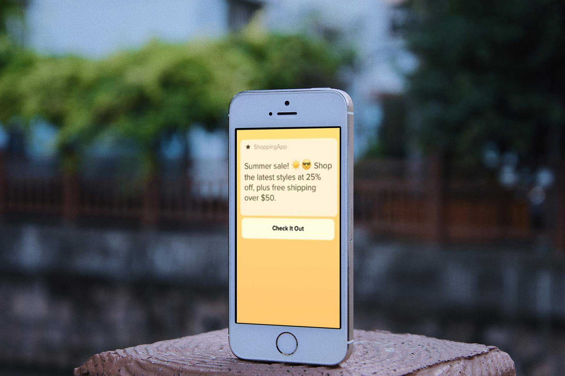 Shopify Summer Sale App notification